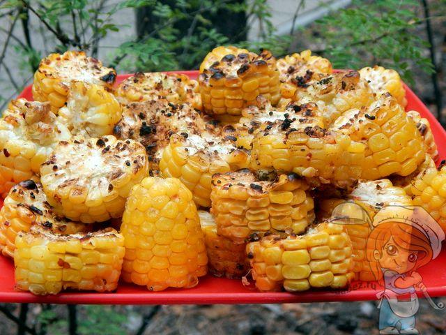 Кукуруза на костре, рецепт с фото