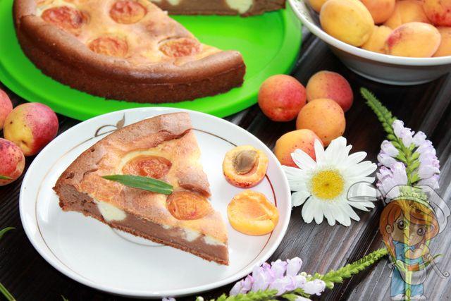 Пирог с творогом и абрикосами, рецепт с фото