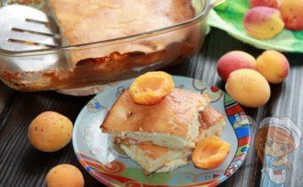 творожная запеканка с абрикосами, рецепт с фото