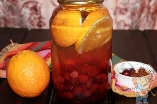 Как сделать компот из крыжовника с апельсином, рецепт на зиму