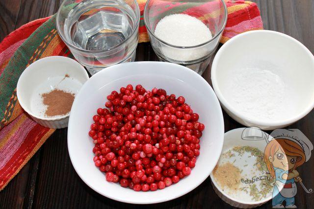 Ингредиенты для брусничного соуса