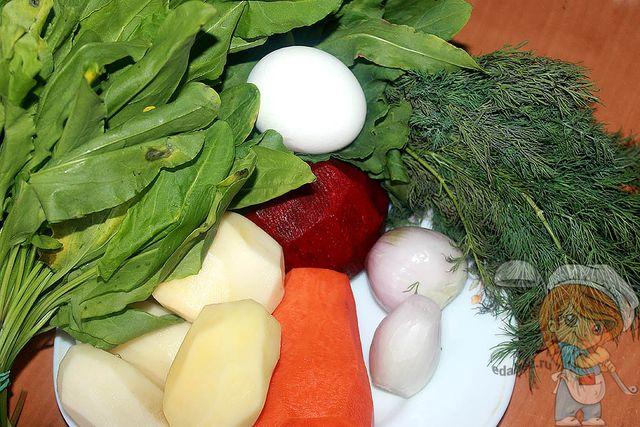 продукты для зеленого борща