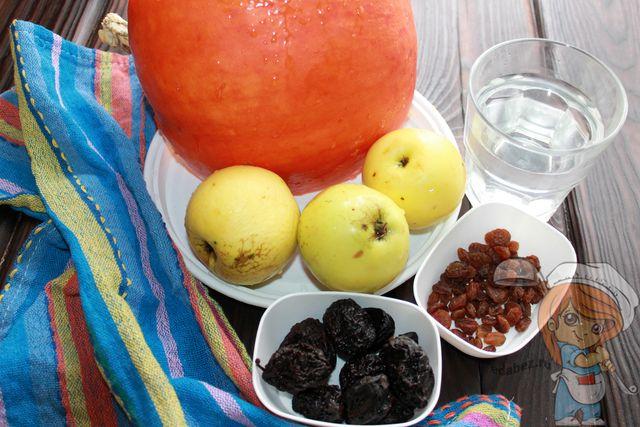 Продукты для десерта из тыквы