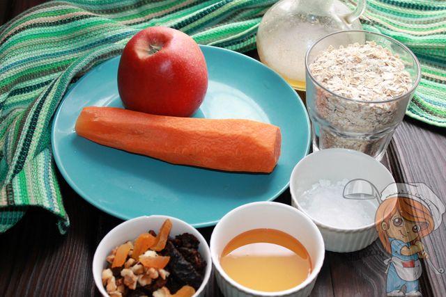 Ингредиенты для морковного пирога