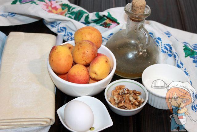 Продукты для абрикосовых слоек