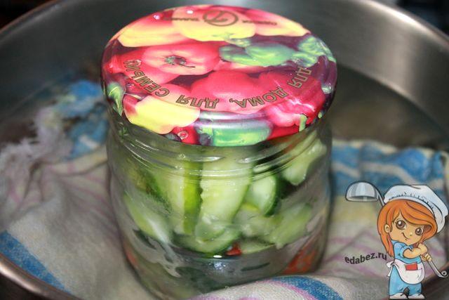 Варим банку с салатом