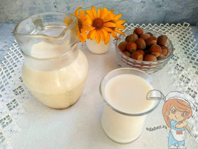 Ореховое молоко, рецепт с фото