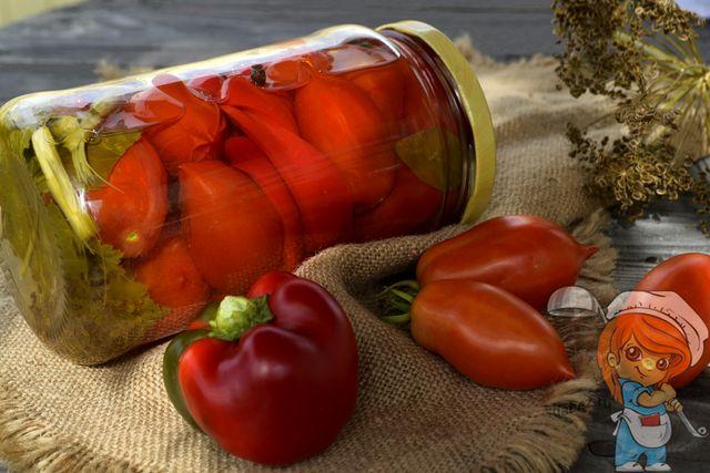 Как закатать помидоры с болгарским перцем в банки