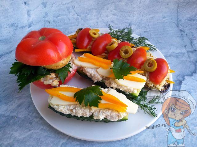 Подаем готовые бутерброды без хлеба