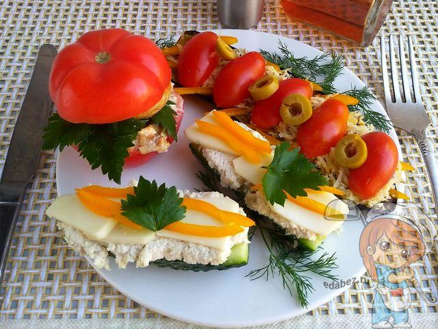 Бутерброды без хлеба - рецепты овощных пп бутербродов