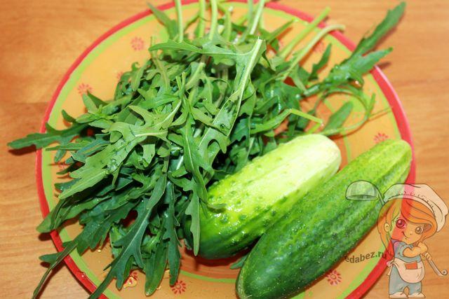 Моем и чистим зелень с овощами