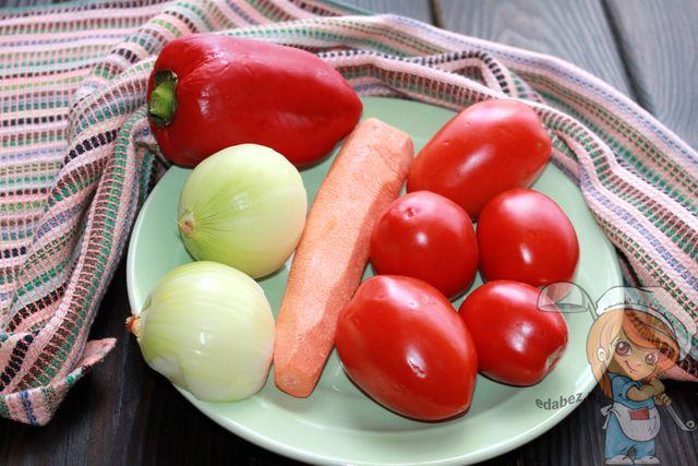 Очищаем овощи и моем