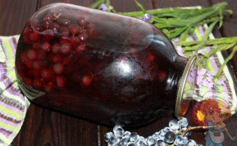 Компот из винограда на зиму, рецепт с фото