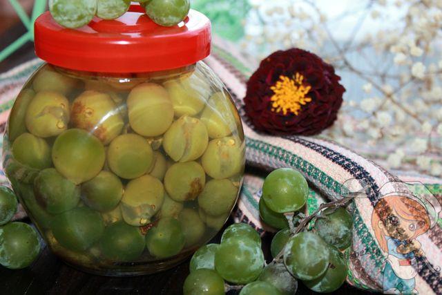 Маринованный виноград, на зиму
