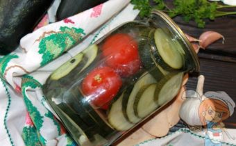 Кабачки с помидорами, рецепт заготовки на зиму