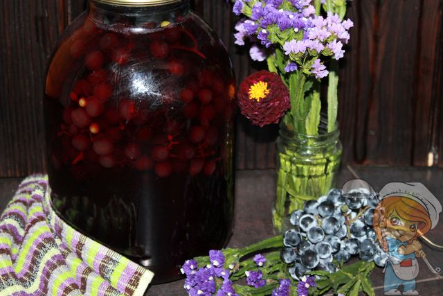 как приготовить компот из винограда на зиму