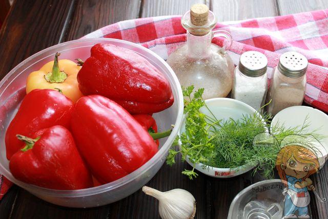 Продукты для запекания перцев