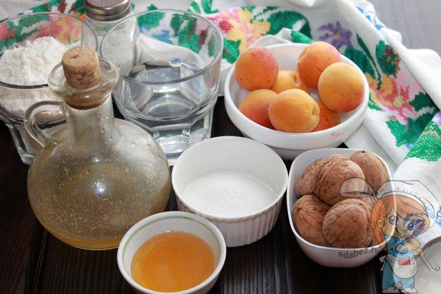 Продукты для абрикосового пирога