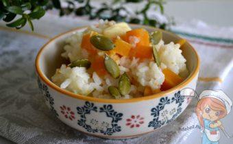 Рисовая каша с тыквой, рецепт приготовления