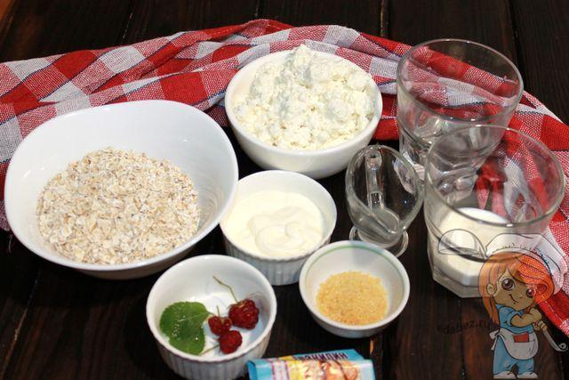Продукты для творожного пирожного