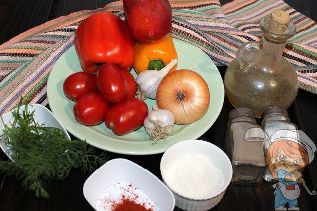 Ингредиенты для приготовления соуса цицибели