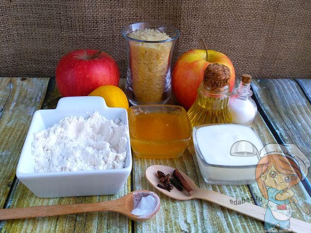 Ингредиенты для постных оладьев без глютена