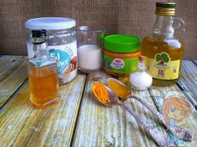 Ингредиенты для приготовления веганского масла