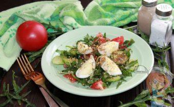 Салат с рукколой и яйцом, рецепт с фото