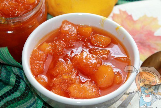 Рецепт вкусного варенья из тыквы и лимона
