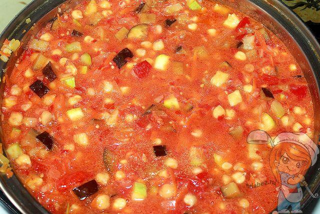 рецепт как приготовить нут с овощами вкусно
