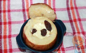 Запеченные яблоки с творогом в духовке, рецепт с фото
