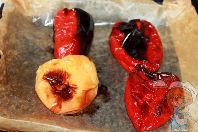 Запеченные в духовке перцы