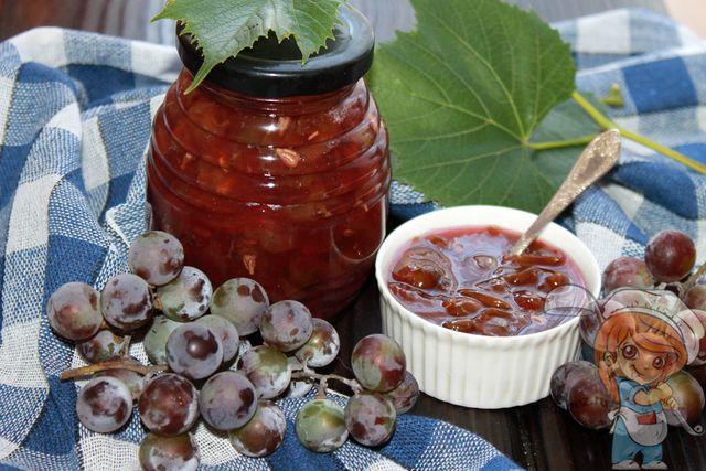 Варенье из винограда, рецепт на зиму