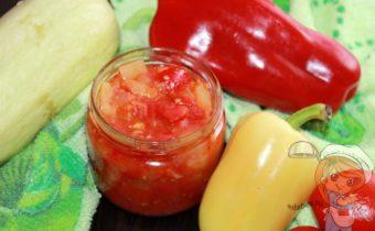 Салат из кабачков на зиму, рецепт с фото