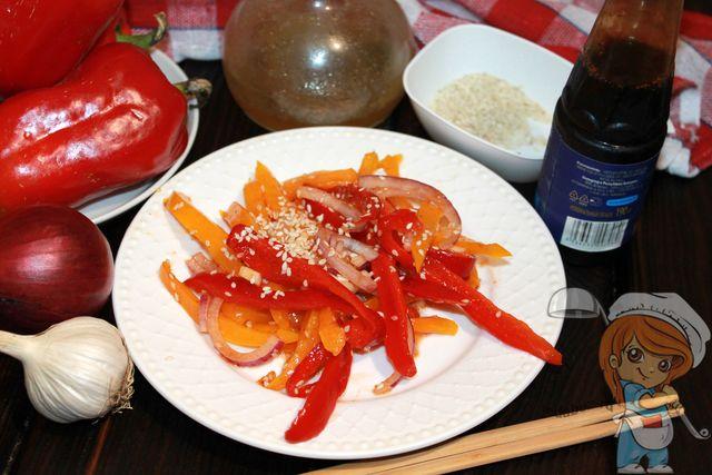 болгарский перец по-корейски, рецепт с фото