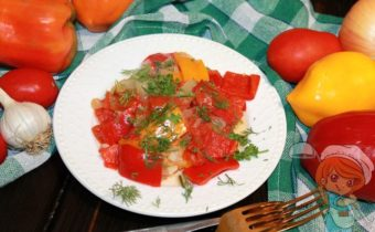 Рагу из болгарского перца, рецепт с фото