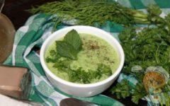 Зеленый холодный суп, рецепт с фото