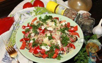 салат из болгарского перца на праздничный стол