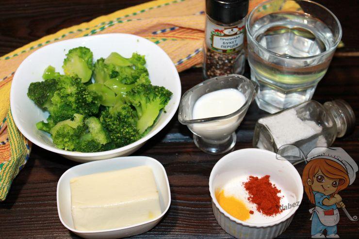 Ингредиенты для супа с брокколи