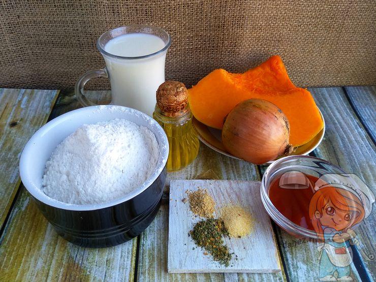 Ингредиенты для вареников из тыквы