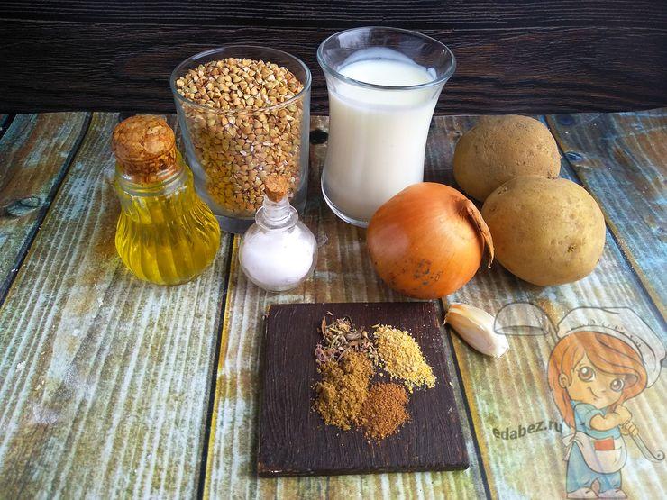 Ингредиенты для лепешек из гречневой муки