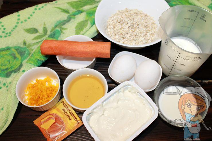 Ингредиенты для приготовления пп тортика