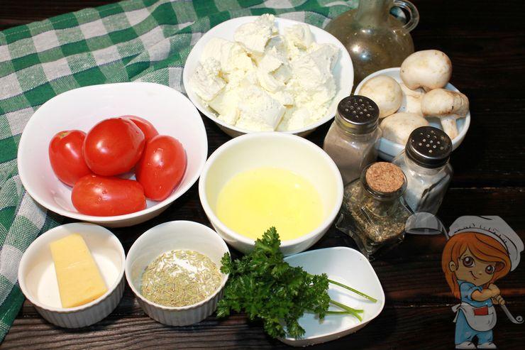 Ингредиенты для творожной пиццы