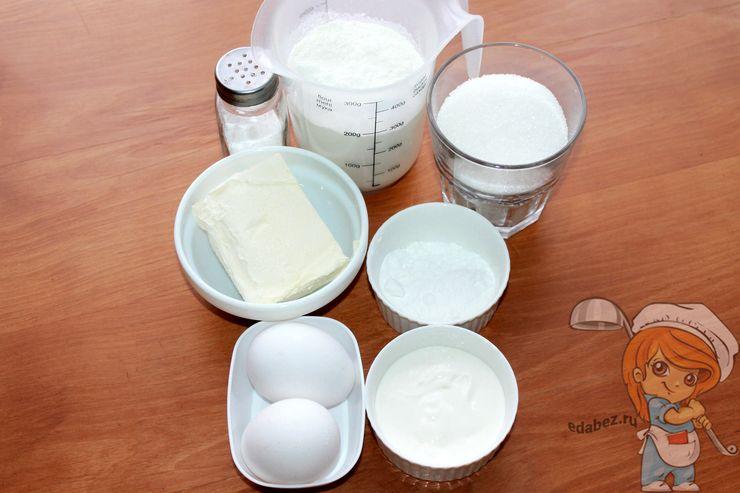 Ингредиенты для приготовления новогоднего печенья