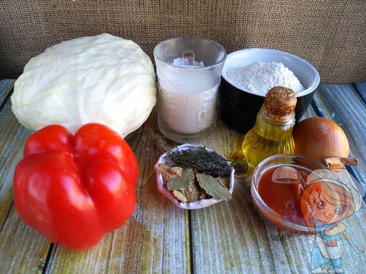 Ингредиенты для вегетарианских пельменей