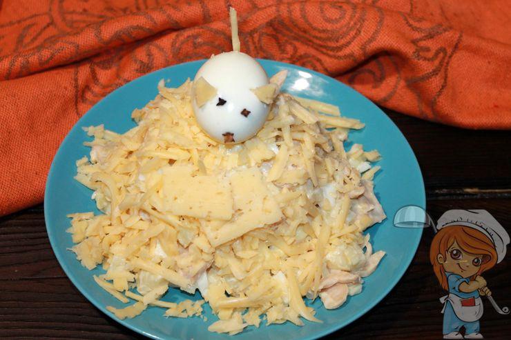 Новогодний салат мышкина радость