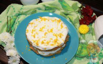 пп тортик с овсянкой, морковью и цитрусами