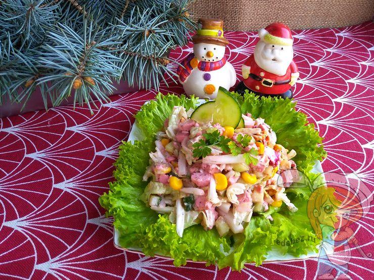 крабовый салат без риса, рецепт с фото