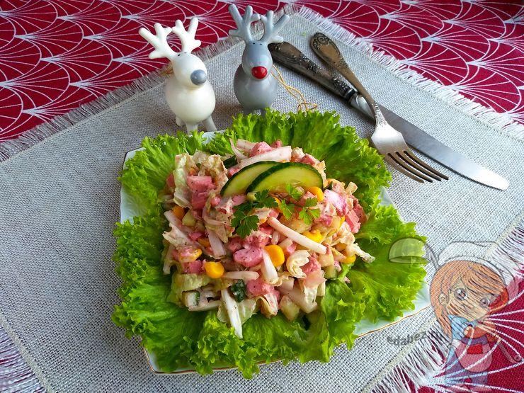 крабовый салат без крабовых палочек