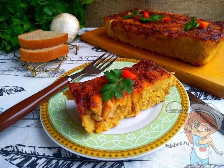 Чечевичный хлеб с соевым мясом, рецепт с фото